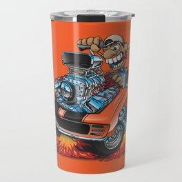 Classic '69 American Muscle Car Cartoon Travel Mug