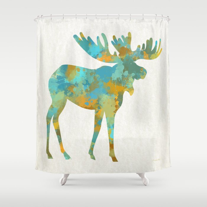 Moose Shower Curtain By Christinarollo