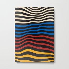 Cozy Waves - home, bauhaus, cottage, scandinavian, sale, iphone, decor, trendy, geometric, compositi Metal Print