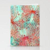 butterfly Stationery Cards featuring Butterfly Pattern by Klara Acel