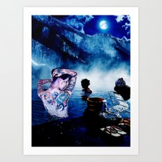 Onsen Art Print