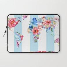 Floral World Stripe Laptop Sleeve