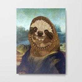 Sloth Lisa Metal Print
