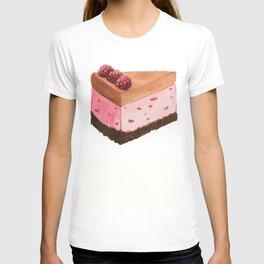 Raspberry Ice Cream Cake Slice T-shirt