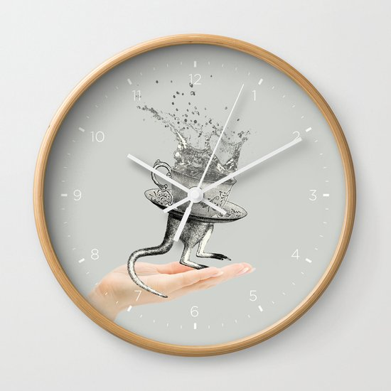 Out of my hand Wall Clock