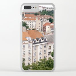Prague Rooftops Clear iPhone Case