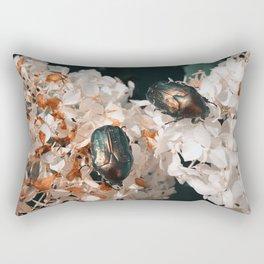 Bugs on Hydrangea Rectangular Pillow