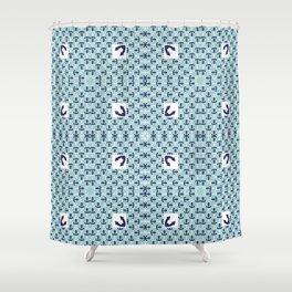 Anchor pattern Shower Curtain