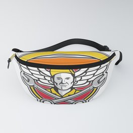 Crew Chief Crossed Spanner Army Wings Banner Icon Fanny Pack