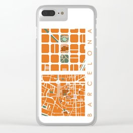 Fagmentos III Barcelona Clear iPhone Case
