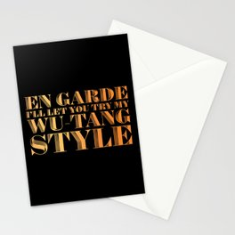 En Garde Ill Let You Try My Wutang Style Stationery Cards