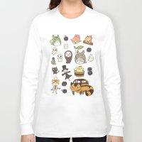ghibli Long Sleeve T-shirts featuring studio ghibli  by skymerol