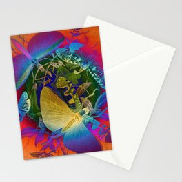 Psychedelic Bugs Stationery Cards