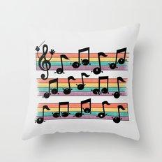 Notes De Luxe Throw Pillow