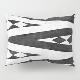 Tribal pattern in black and white. Pillow Sham