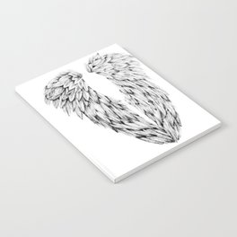 Black and White Angel Wings Notebook