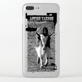 Action Yakson: King of the Yaks Clear iPhone Case