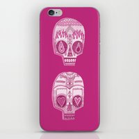sugar skulls iPhone & iPod Skins featuring Sugar Skulls by Diana Dypvik
