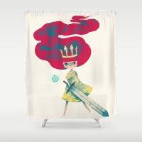 aurora Shower Curtains featuring aurora by yohan sacre