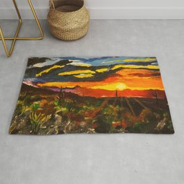 South Mountain Sunset Rug