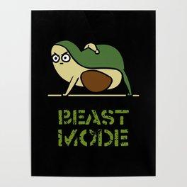 Beast Mode Avocado Poster