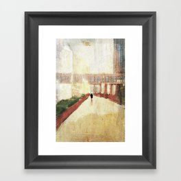 farewell to the city Framed Art Print