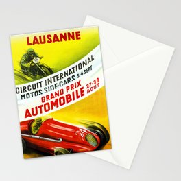 Lausanne Grand Prix 1949 Stationery Cards
