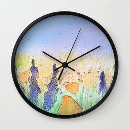 You Belong Among The Wildflowers Wall Clock