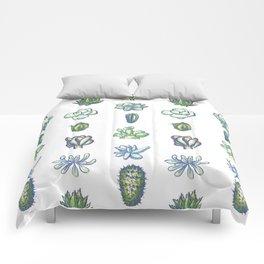 One Dozen Succulents Comforters