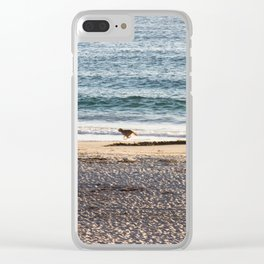 Waves and sand Clear iPhone Case