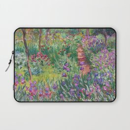 The Iris Garden at Giverny by Claude Monet Laptop Sleeve