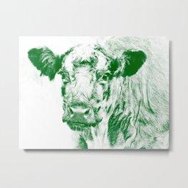 Ardnmurchan Coo - Green Metal Print