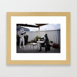 Come have a seat... Framed Art Print