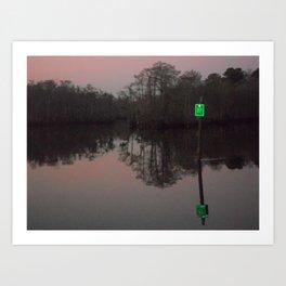 greenlight, that's my left eye. Art Print