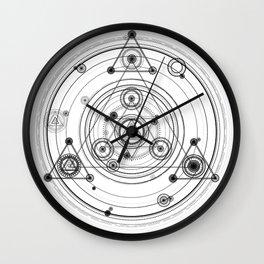 Geometric art inspired by magic circles Wall Clock