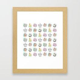 Jungle Animal Wallpaper Framed Art Print