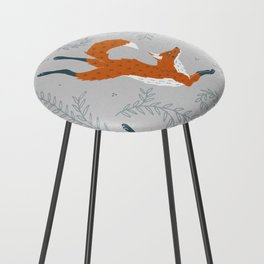 Fox in the Snow Counter Stool