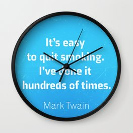 Mark Twain. Smoking Wall Clock