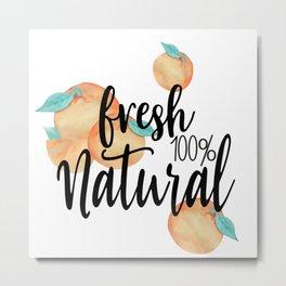 Fresh and Natural Metal Print