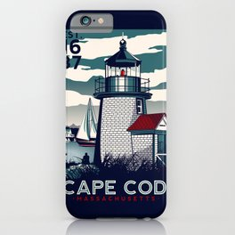 CAPE COD  Massachusetts Light House Retro Vintage nautical cape cod iPhone Case