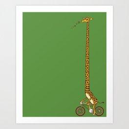 Long Bike Ride Art Print
