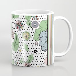 60s floral framed Coffee Mug