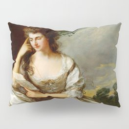 "Thomas Gainsborough ""Frances Browne, Mrs John Douglas at Waddesdon Manor"" Pillow Sham"