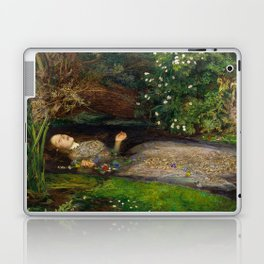 Ophelia from Hamlet Oil Painting by Sir John Everett Millais Laptop & iPad Skin