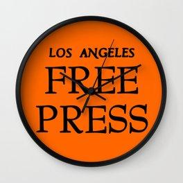 FP Logo Stamp - Orange Wall Clock