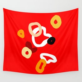 playful red Wall Tapestry