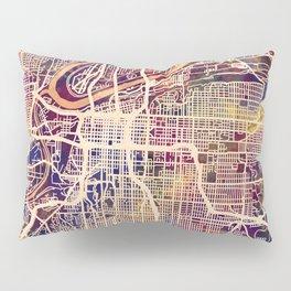 Kansas City Missouri City Map Pillow Sham