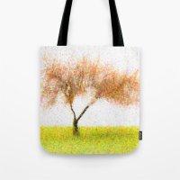 tree of life Tote Bags featuring Life Tree by Joao Bizarro