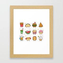 Food Doodle Framed Art Print