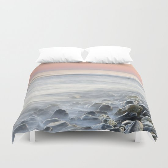 """Bright stones"". Pink sunset Duvet Cover"